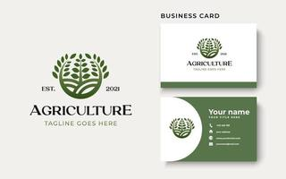 Agriculture Farm Logo template Isolated in White Background vector