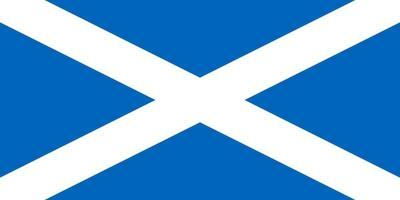 Scottish Flag of Scotland vector