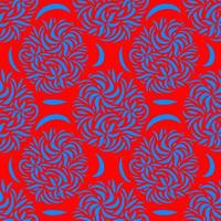 floral asymmetric ornament seamless background vector