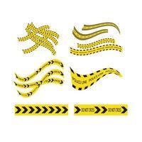 logo de linea de policia vector