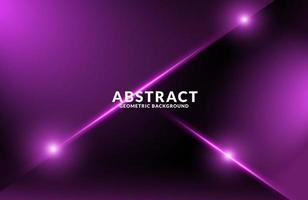 Dark purple Realistic abstract Geometric background  Neon light effect vector