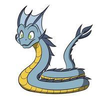 Sea Serpent Cute Dragon Cartoon vector
