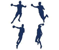 juegos balonmano deporte diseño juegos símbolos abstractos signos iconos vector