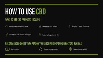 How to use CBD, medical uses for cbd oil of cannabis plant vector