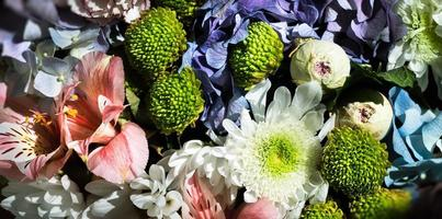 Festive bouquet of assorted flowers photo