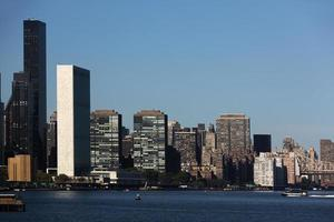 United Nations headquarters. View from the east river. photo