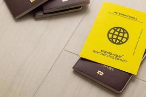 pasaportes de vacunas para viajar foto
