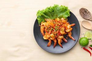 Prawns chilli pepper food photo