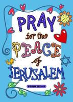 Pray for the Peace of Jerusalem vector