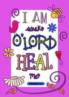 I am Weak O Lord Heal Me vector