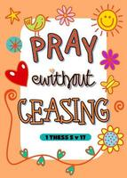 Pray Without Ceasing vector