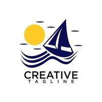 Sail logo design vector