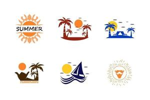 Summer set logo vector