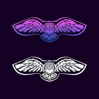Owl flying design vector