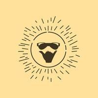 Summer logo design vector