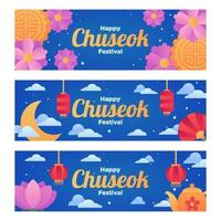 Happy Chuseok Festival Banner vector