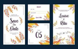 Fall Theme Invitation Concept vector