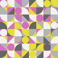 Vintage retro bauhaus abstract vector seamless pattern.
