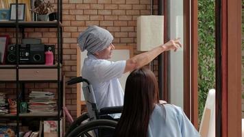 pacientes oncológicos en tratamiento de rehabilitación en domicilio particular. video