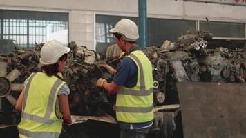 Employees Stock Check of Car Spare Parts video