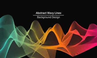 Colorful abstract wavy lines background design vector
