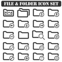 File And Folder icons vector