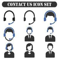 Contact Us icon Set vector