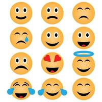 face emoji icons collection vector