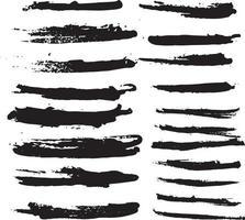 set of brush strokes, Black ink grunge brush .ink grunge brush stroke. vector