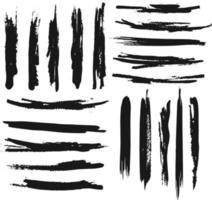Big set of brush strokes, Black ink grunge brush strokes.free vactor vector