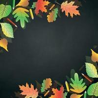 Autumn school background with place under your text - Vector