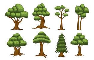 colección de iconos de árbol vector