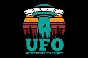 T-shirt flying object plan ufo vector
