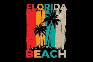 T-shirt design of florida beach island vector