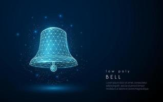Abstract bell icon. Low poly style design. vector
