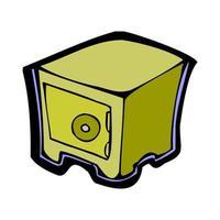ilustración de dibujos animados de armario armario vector