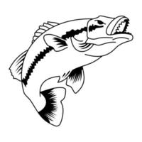 Fish tattoo illustration vector