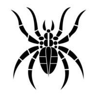 tribal spider tattoo illustration vector