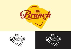 the brunch restaurant logo concept vector