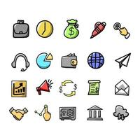 Set of office icon vector