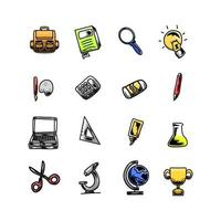 Set of school icon vector