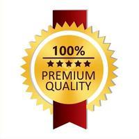 etiqueta de oro de primera calidad vector