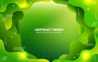 Green Lights Abstract Green Background vector