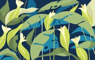 Organic Plants Background vector