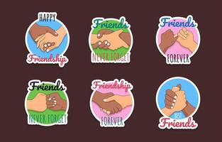 Friendship Appreciation Day Sticker Pack vector
