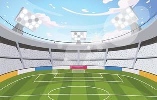 Big Soccer Stadium Background vector
