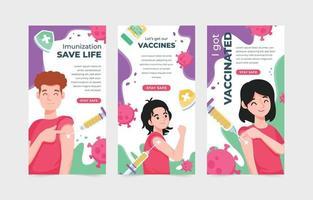 después de la vacuna covid-19 linda plantilla de banner vector