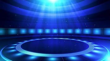 fond de nouvelles de style studio virtuel video
