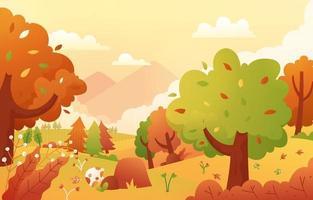 Autumn Scene Vector Background