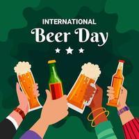 International Beer Day Celebration Background vector